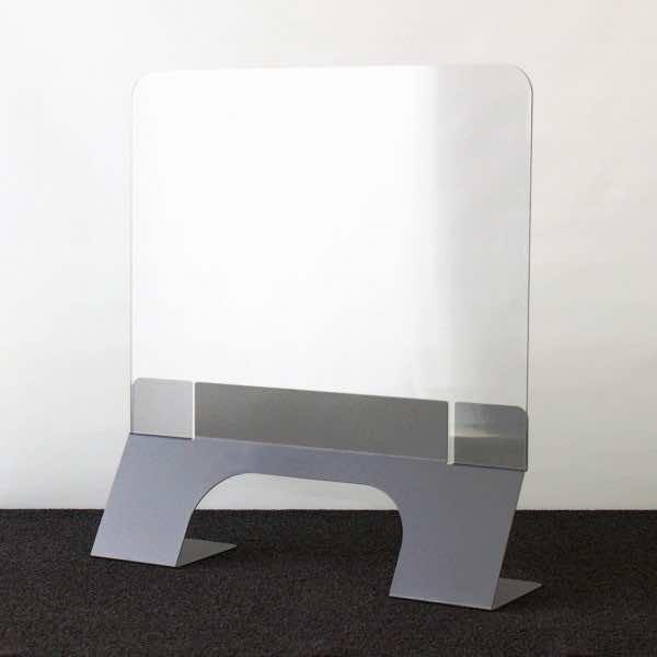 Hochwertiger Theken- & Schreibtischschutz aus Stahl pulverbeschichtet Breite 750 mm