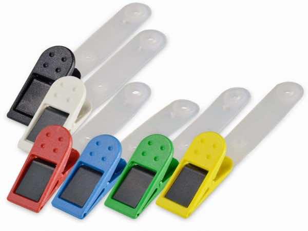 Plastik / Metall-Klammer farbig