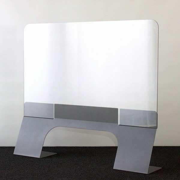Hochwertiger Theken- & Schreibtischschutz aus Stahl pulverbeschichtet Breite 1000 mm